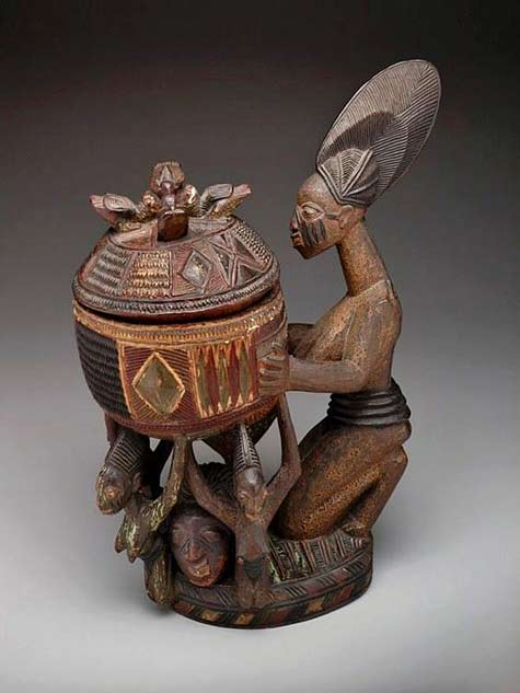Yoruba-Olumeye-(Kneeling-Female-Offering-Bowl),-Nigeria---