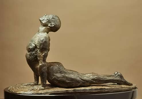 Emerging- Sculpture of the cobra pose - Paige Bradley