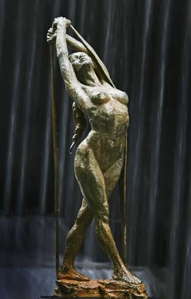 release-Paige Bradley female sculpture in bronze