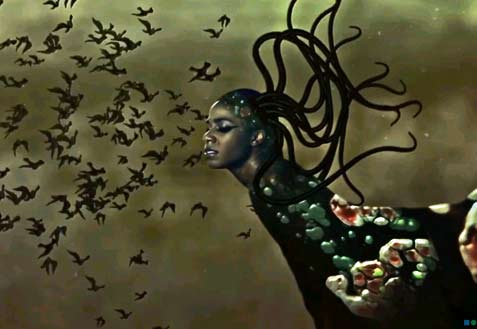 The End of eating Everything : animated video by Wangechi Mutu