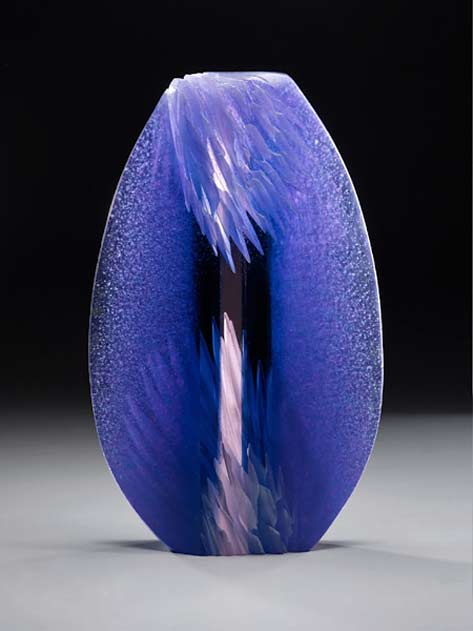 window-15 Alex-Bernstein Glass ovoid blue sculpture