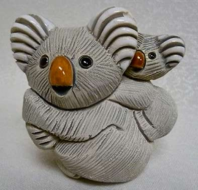 128-Rinconada-Koala - hand carved and painted ceramic figurine