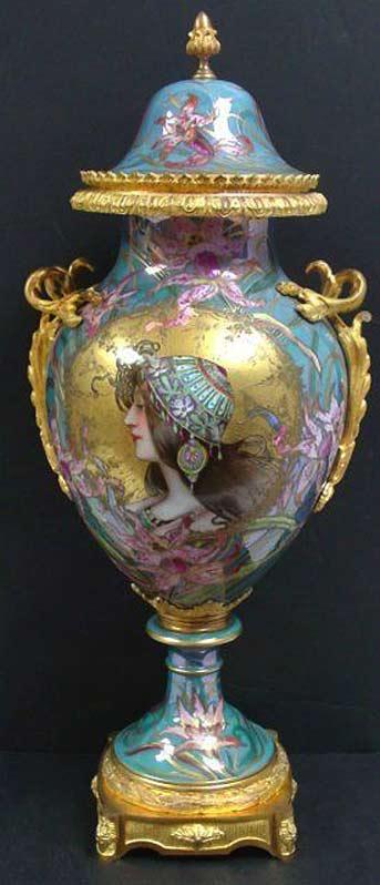 19th-century-art-nouveau-vase by Sevres