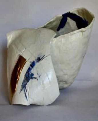 Andoche-Praudel abstract porcelain sculpture