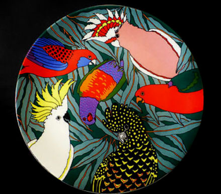 Barbara-SwarbrickAustralian-Fine-China-Conference-of-the-Birds-Barbara-Swarbrick-Plate-Charger