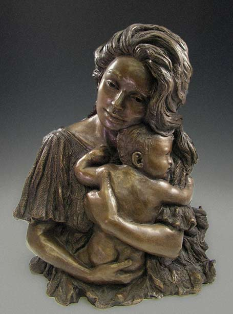 Mother And Child Sculptures