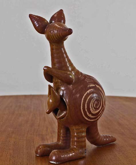 Gustavsberg-Ceramic-Adorable-Kangaroo-with-Joey-by-Lisa-Larson