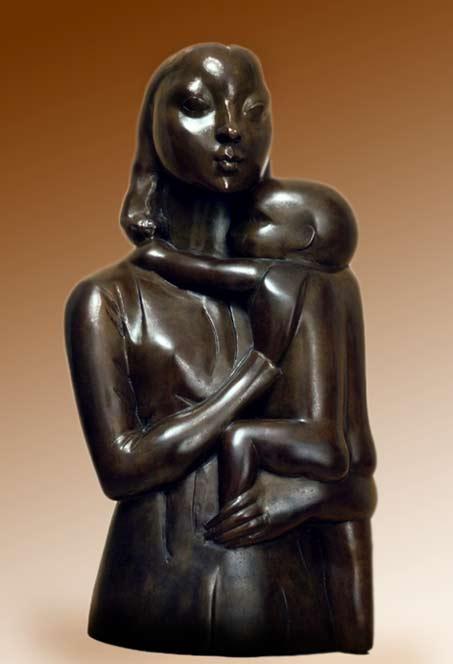 Hana-Orlova mother child sculpture 1925