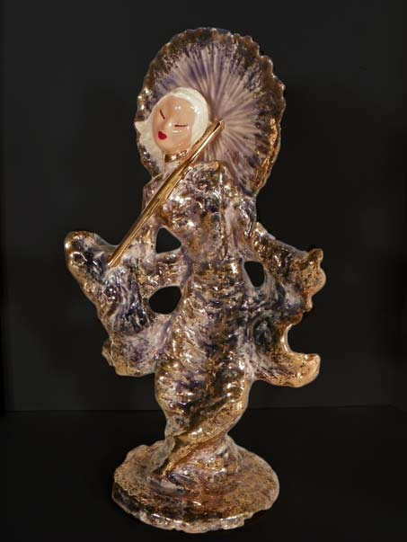 Hedi-Schoop-Woman-Vase-Iridescent-Glaze-Geisha-Girl
