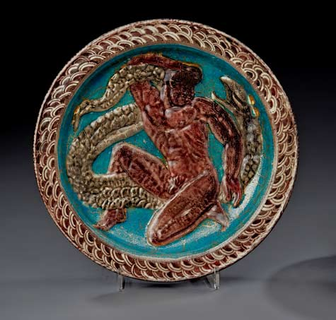 Jean-Mayodon-charger with man wrestling a python