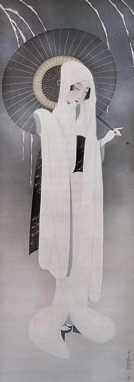 Japanese-print - 1920-25 'Heron Maiden' - Nakamura Daizaburo