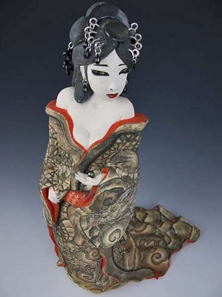 Joey Chiarello ceramic sculpture of a female figure