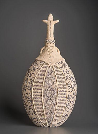 Kesher-VI---2015-Avital-Sheffer ceramic vessel