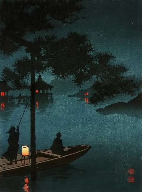 Lake Biwa by Koho-Shoda-(Japanese-Woodblock-Prints)
