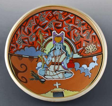 Lakshmi-open-bowl-by-Susan-Folwell-(Santa-Clara)-and-Les-Namingha-(Hopi-Tewa-Zuni)