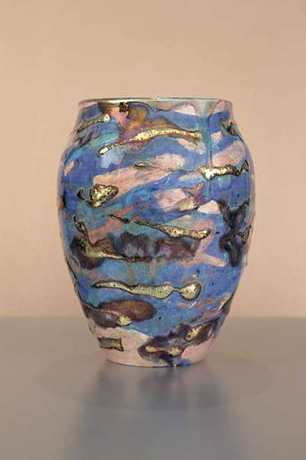 March-Sunrise-lustra glaze vessel by Paul Katrich