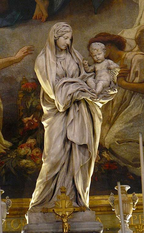 Statue of Virgin Mary by Jean-Baptiste Pigalle