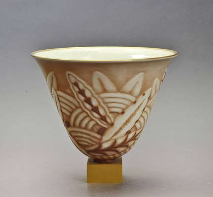 Sevres-and-Ruhlmann-Rare-Bronze-and-Porcelain-Vase,-circa-1931 GALERIE-PLAISANCE