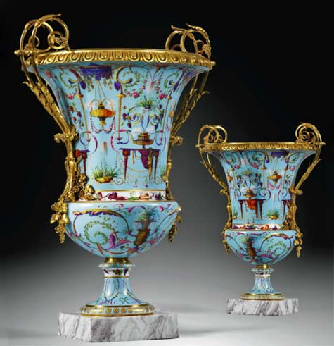 sotheby-s--pair-of-gilt-bronze-mounted-Sèvres-soft-paste-porcelain-`Vases-Medici',