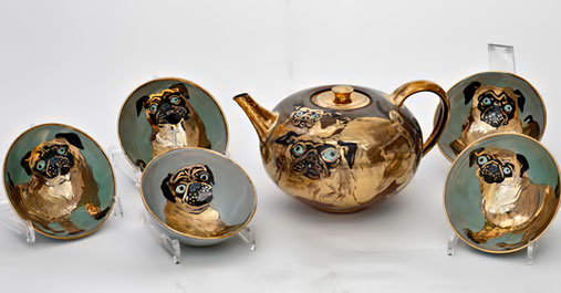www.hinrichkroeger----the golden pug tea set