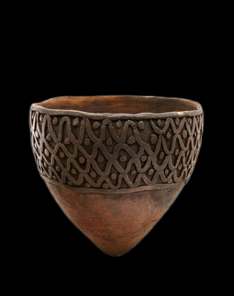 Ceramics-of-Papua-New-Guinea--Cooking-pot(gun),-Bosman-peoples,-Ramu-River,-Madang-Province,-Papua-New-Guinea,--Unglazed-earthenware
