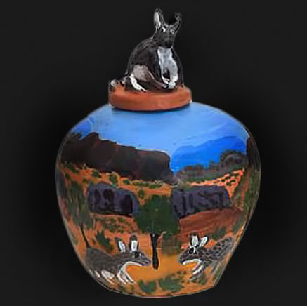 Irene-Entata---Bilbi aussie animal pottery jar