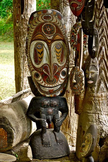 Kanganaman-Village painted mask ---East-Sepik-Province---Papua-New-Guinea-