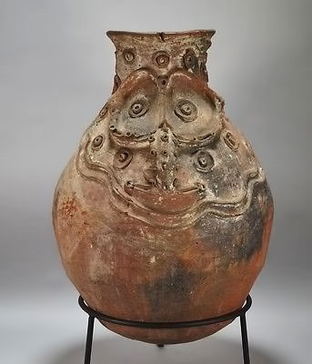 Large-Iatmul-Papua-New-Guinea-Ceramic-Sago-Pot
