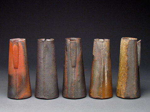 Lindsay-Oesterritter-raku pitchers