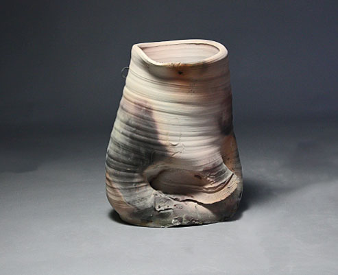 Liz-Hafey--folded ceramic vessel