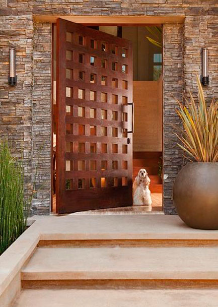 Modern-front-door-by-Michael Fullen Design Group.
