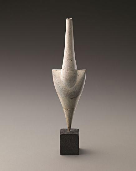 PHILLIPS--White-'Cycladic'-arrow-form,-1975,-Hans-Coper