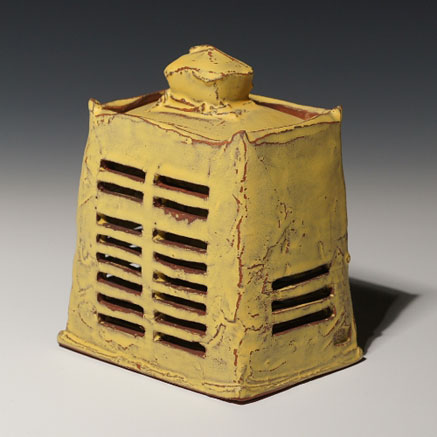 Sunshine-Cobb-ventilated yellow ceramic box
