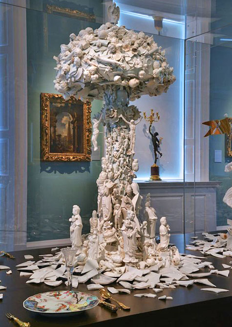 Bouke-de-Vries-#ceramics-#porcelain-[war-&-pieces-(cloud),-18th,-19th,-20th-century-,-2012