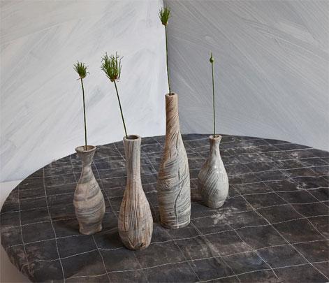 Catherine-White---2009-Summer-Solstice 4 pottery bottles