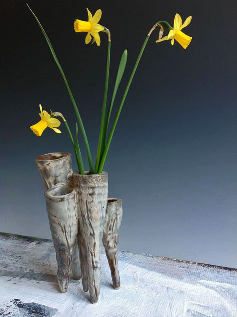 Catherine White - daffodils in ceramic contemporary vase