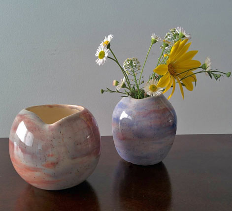 Elnaz-Nourizadeh---Eli---elnazceramic--•-flowers-and-two-vases