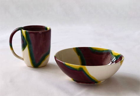 Elnaz-Nourizedah--Tableware mug and bowl