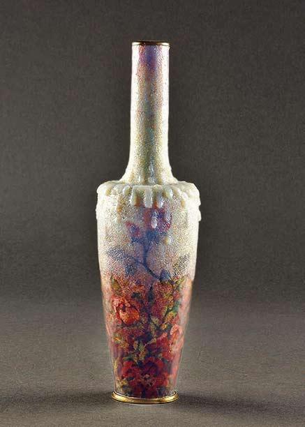 jules-sarlandie-embossed-floral-enameled-vase