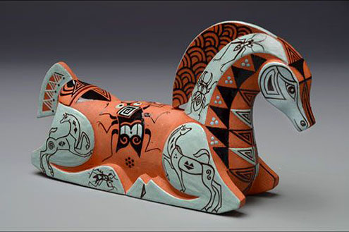 Mariko-Swisher-contemporary-ceramic-horse