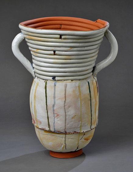 "Nancy-Selvin-Large+Pot+w-drips,+Ceramic,+28""+x+18""+diameter,++2014"