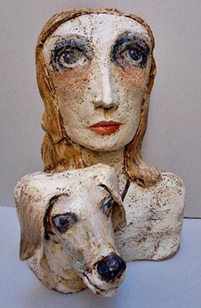 TERESA-GIRONES ceraamic sculpture bust