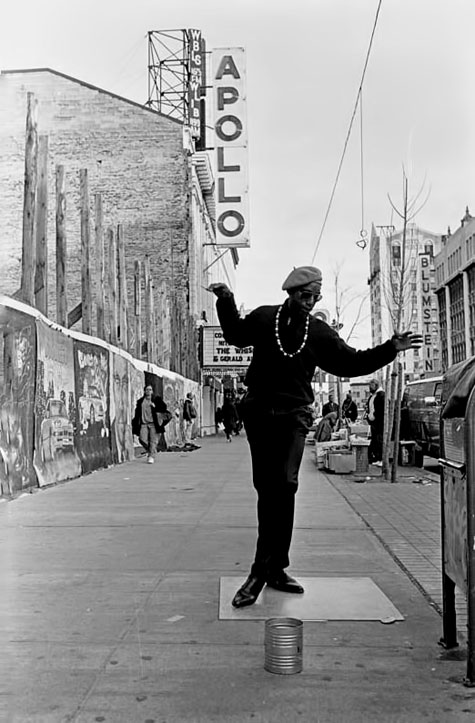 125TH-STREET,-HARLEM,-NY.-May,-1993---This-fellow-calls-himself-Dancing-Harry by Ozier Muhammad