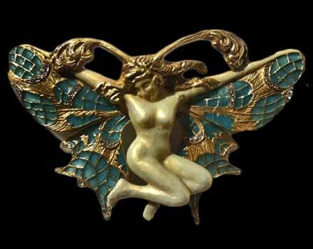 18k-Gold-Diamond-Plique-A-Jour-Butterfly-Nude-Lady-Brooch-Art-Nouveau