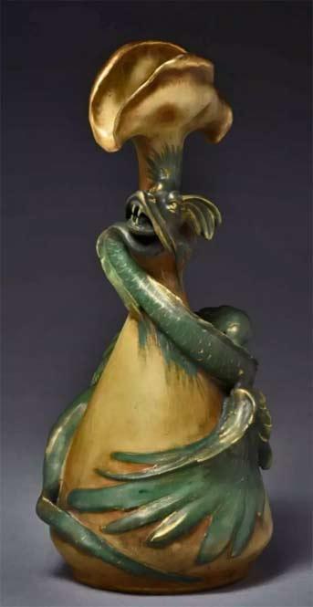 Amphora-Ceramic-Green Dragon-Vase