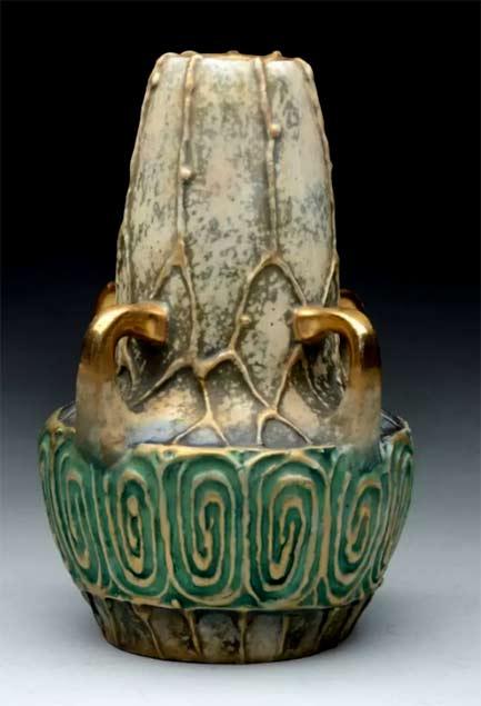 Amphora-Ceramic-Secessionist-4-Handled-Vase
