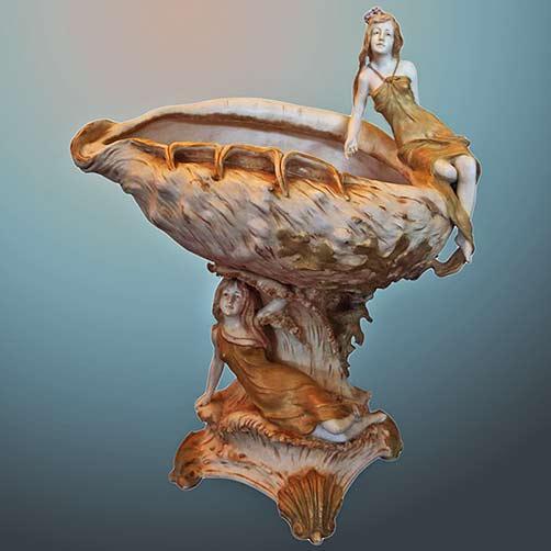 Art-Nouveau-Amphora-Figurative-Vase-Center-Bowl-A-Touch-of-The-Past-Antiques