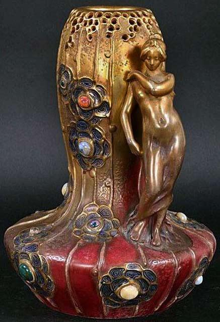 Art-Nouveau---Amphore-Vase---Autriche---1900