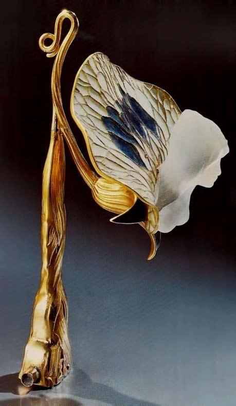 Art-Nouveau-~-Lalique-1899-1900-'Sweet-Pea-with-Bust-of-a-Woman'-Lorgnette-Handle-gold-enamel-cast-glass