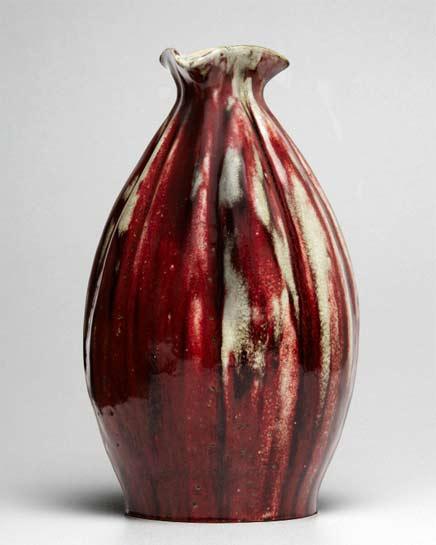 Red Art-Nouveau-Sang-de-Boeuf-Gourd-Vase-by-Pierre-Adrien-Dalpayrat Jason-Jacques-Gallery-NY